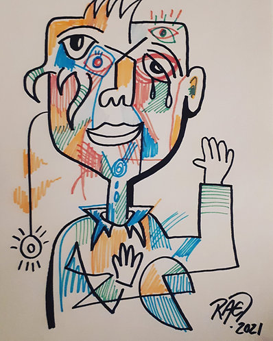 drawing#2 11x14 markers on paper 2021