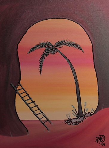 """Chill Zone"" 12"" x 16"" acrylics on canvas - 2014"