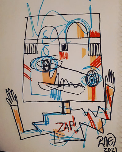 drawing#6 11x14 markers on paper 2021
