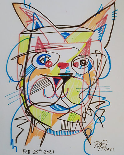 drawing#4 11x14 markers on paper 2021