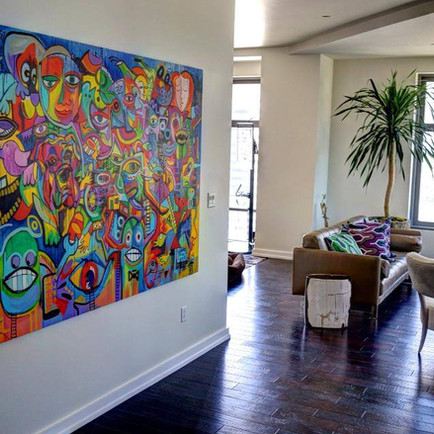 My paintings in customers homes