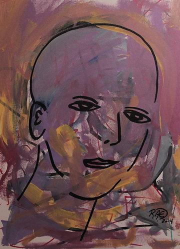 """""""Clear Headed"""" 12"""" x 16"""" acrylics on canvas - 2014"""