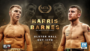 HARRIS VS. BARNES HEADLINES #MTKFIGHTNIGHT AT BELFAST'S HISTORIC ULSTER HALL