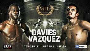OHARA DAVIES TO FACE MIGUEL VAZQUEZ
