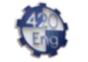 (2) 420 Logo - Brushed Blue Metal - 3D.p