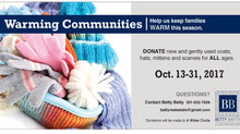 Join me and help keep families WARM this season!