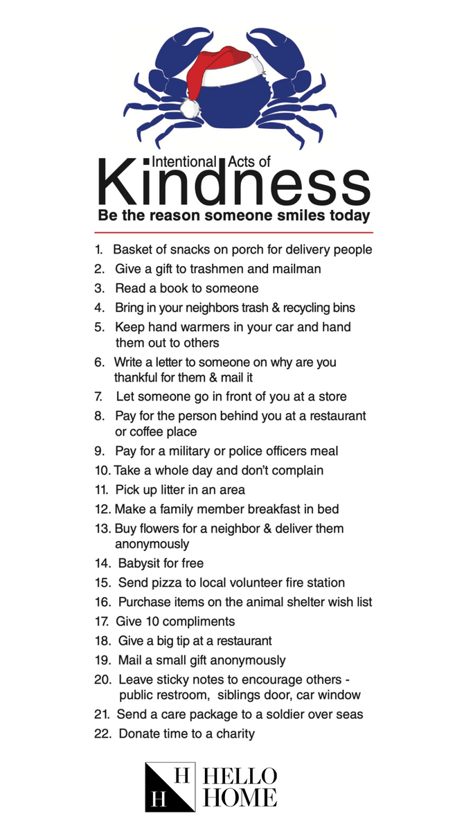 Join us and spread some kindness this holiday season!