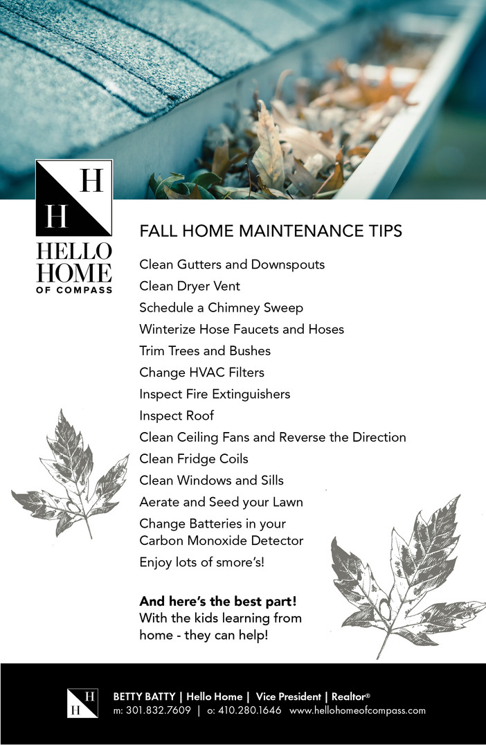 How's your home maintenance checklist coming along?