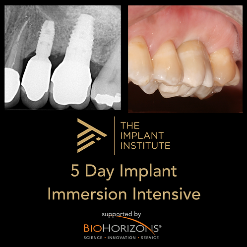 5 Day Implant Immersion Intensive - Module 1 (Drs Habibi, Valizadeh, Tutoveanu..