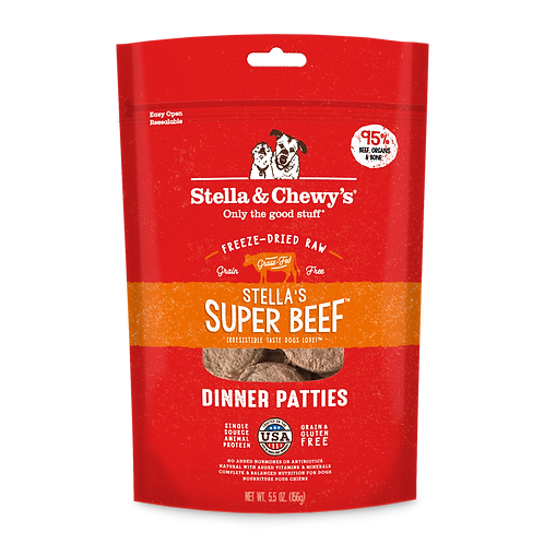 Super Beef Freeze Dried Raw Dinner Patties