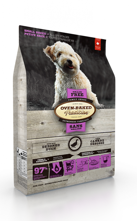 GRAIN-FREE DUCK DOG FOOD FOR SMALL BREEDS / ALL LIFE STAGES