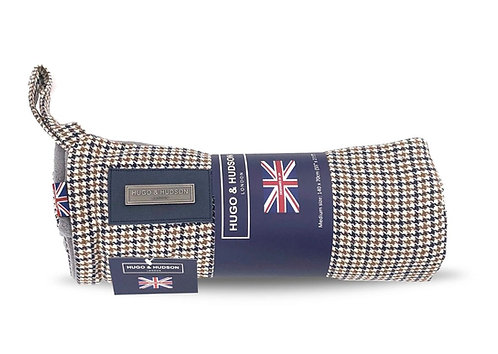 Hugo & Hudson Navy and Brown  Tweed Dog Blanket