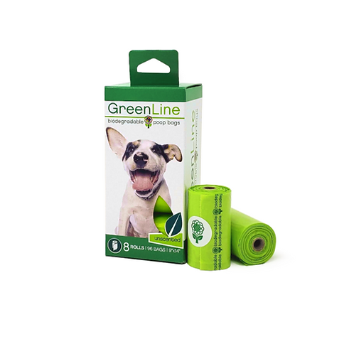 GreenLine Poop Bags - 8 Roll Pack