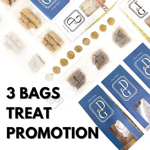 3 packs of the Dog's Garden - Treat Promotion