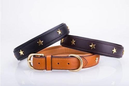 Handmade Leather Star Dog Collar