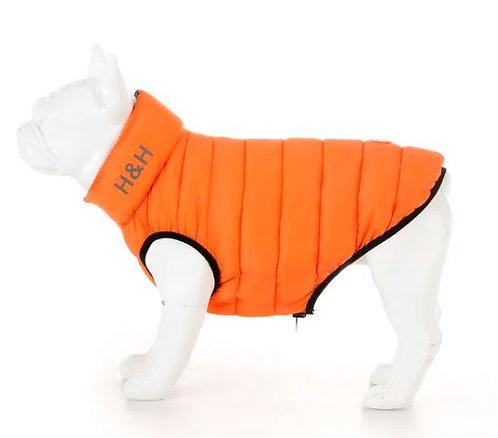 Orange & Navy Puffer Jacket