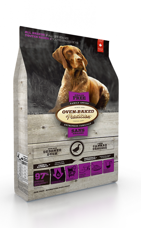 GRAIN-FREE DUCK DOG FOOD FOR ALL BREEDS / ALL LIFE STAGES