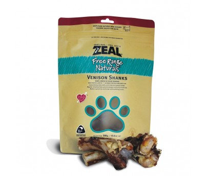 Zeal Free Range Naturals Venison Shanks Dog Treats