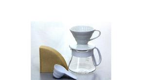 V60 陶瓷濾杯咖啡壺組 VDS-3012W