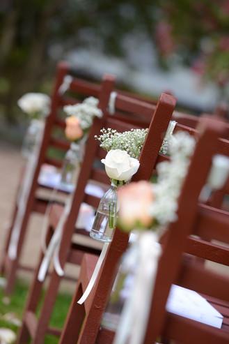 Wedding Ceremony Chair Flowers