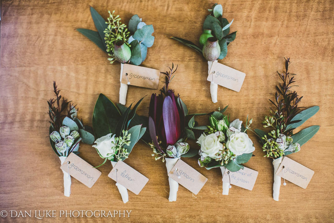 Native Flower Boutonnieres & Corsages
