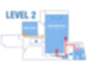 Map of YMCA Level 2. Directions to service