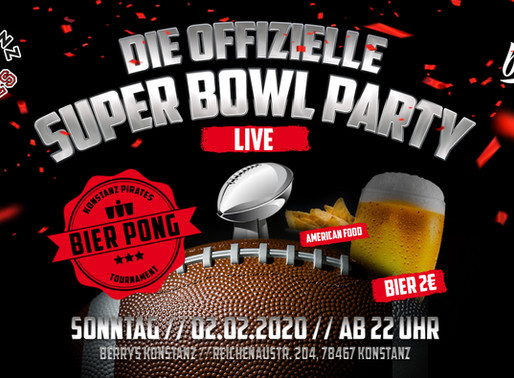 Die offizielle Super Bowl Party