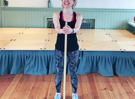 Poles in Pilates Practice