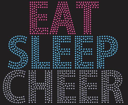 Eat Sleep Cheer - 3 couleurs