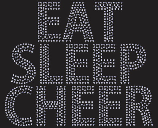Eat Sleep Cheer - Crystal