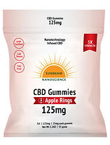 Sunbeam Nano CBD Gummy 125 mg 5 Count Ap