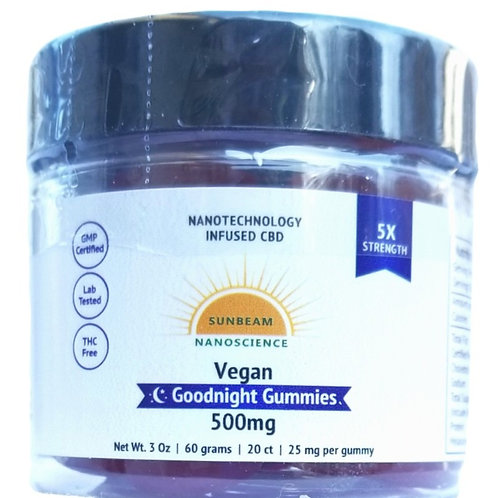 Sunbeam Nano CBD GOODNIGHT Gummies
