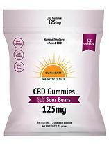 Sunbeam Nano CBD Gummy 125 mg 5 Count So