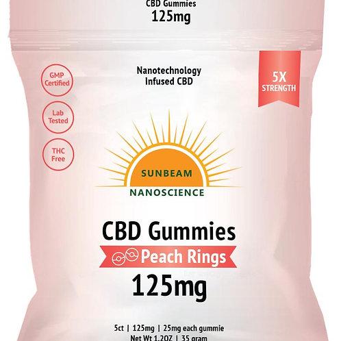 Sunbeam NanoCBD Gummies 125 mg