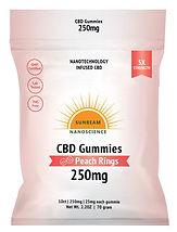 Sunbeam Nano CBD Gummy 250 mg 10 Count P