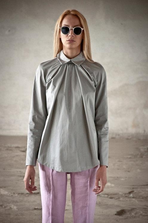 Metalic Pleated Shirt