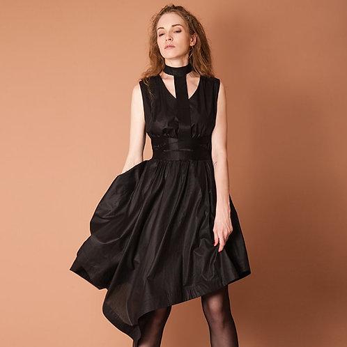 Black & Asymmetrical Dress