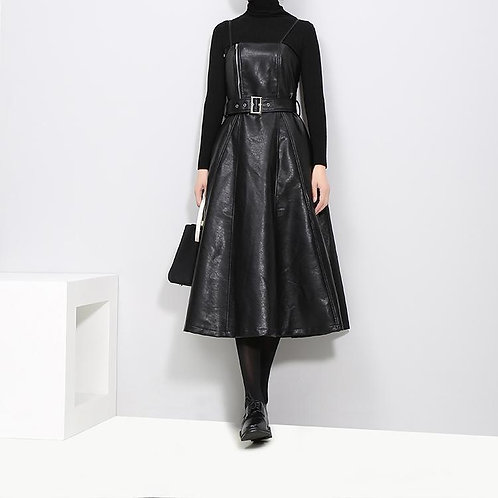The Vegan & Leather Dress