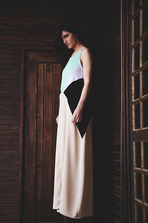 The Geometrical Patch Dress