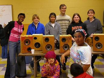 Wood Speakers, Girls.jpg