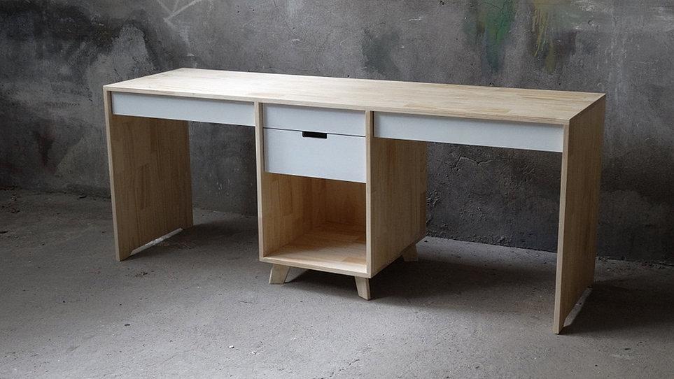 Mader stica carpinter a de autor escritorio carolina - Escritorio de pino ...