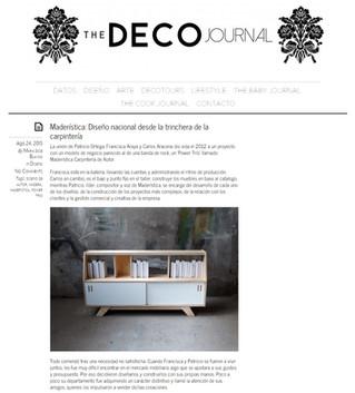 """Entrevista en """"The Deco Journal"""""""