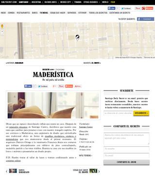 """Secreto # 394 de """"Santiago Daily Secret"""", Maderística!"""