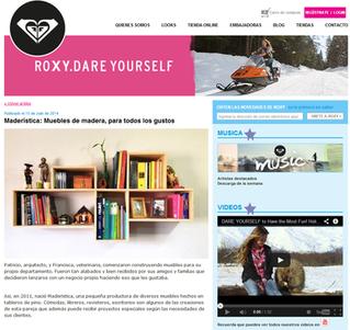 """MADERÍSTICA en """"ROXY Chile"""""""