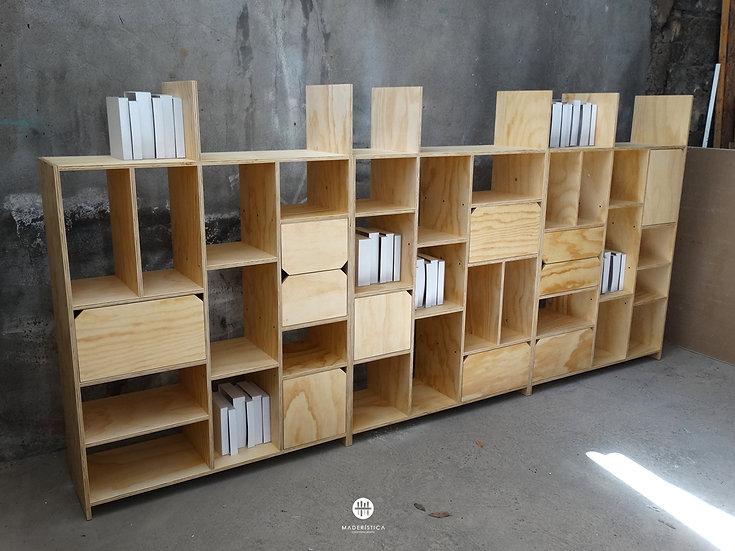 Estante biblioteca Gabriela