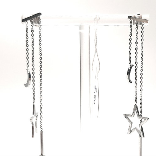 Orecchini pendenti stelle perle