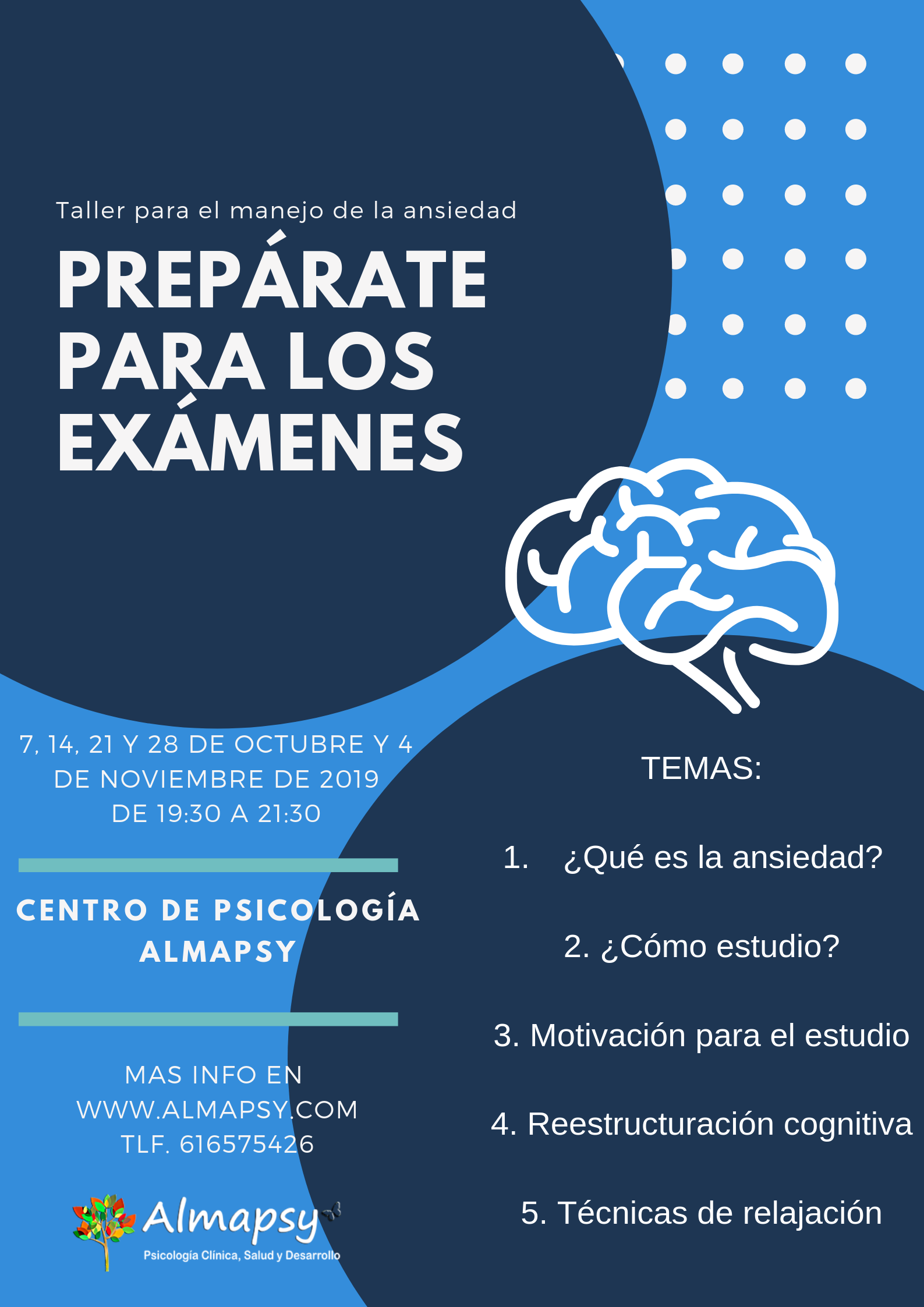 Cartel Preparate para los examenes