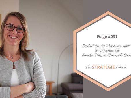 Folge #031 Geschichten, die Wissen vermitteln - ein Interview mit Jennifer Fritz
