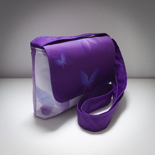 Handmade Fabric Cross Body Handbag, Calluna Butterfly / Blue