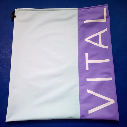 "Handmade Fabric Drawstring Bag, ""Vital"""